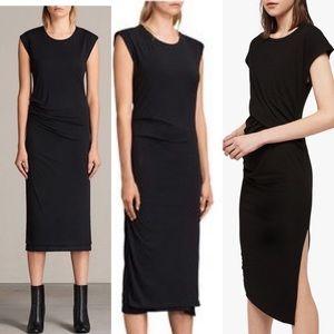 Saint Laurent all saints black gamma t-shirt dress